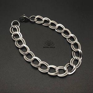 Linked Bracelet or Anklet   Stainless Steel
